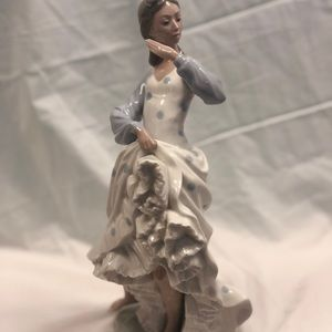 Lladro dancing woman sculpture
